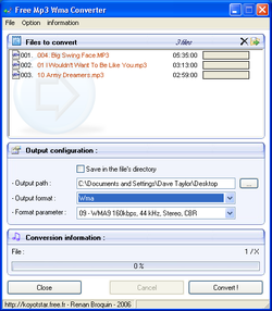 Free Mp3 Wma Converter screen2