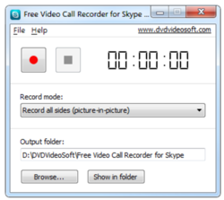Free Video Call Recorder for Skype screen2