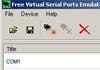 Free Virtual Serial Ports Emulator : créer et tester le fonctionnement des ports virtuels