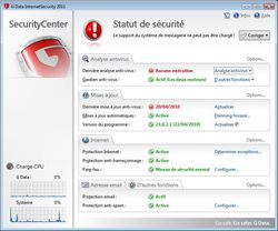 G DATA InternetSecurity 2011 screen 1