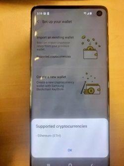 Galaxy S10 blockchain