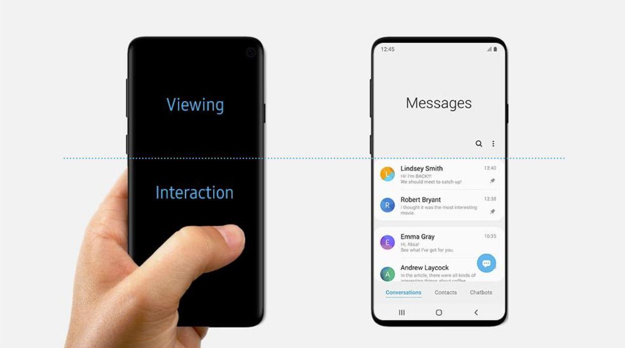 Samsung Galaxy S10e : rendus presse et caractéristiques