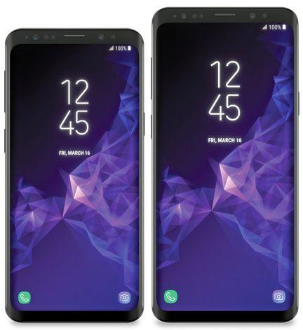 Galaxy S9 rendu