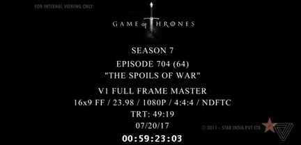 Game of Thrones saison 7 piratage