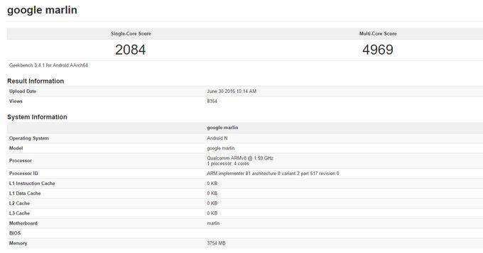Geekbench M1 Marlin Nexus