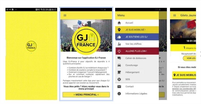 Les Gilets Jaunes disposent de leur propre application mobile