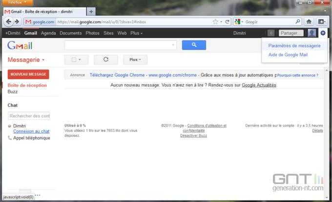 Gmail nom expéditeur 1