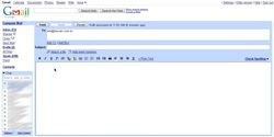 Gmailta screen