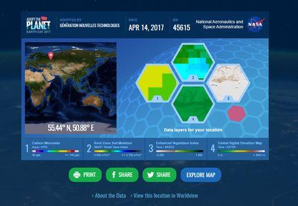 GNT morceau Terre NASA