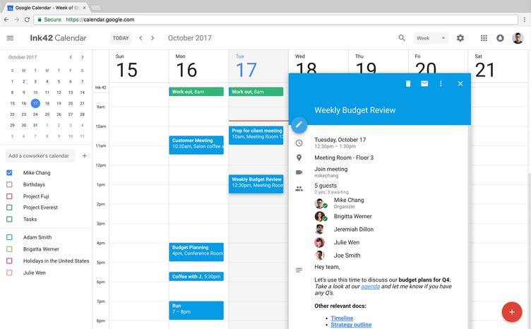 Google-Agenda-Web