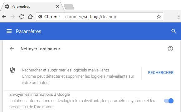 Google-Chrome-recherche-malware