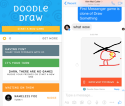 Google Draw Messenger