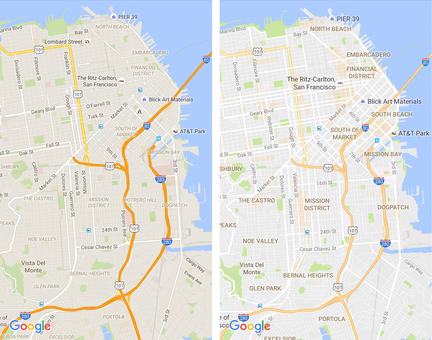 Google Maps changements
