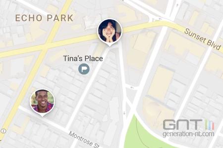Google Maps permet d'être pisté en temps réel par des contacts