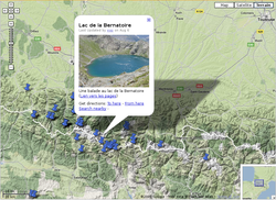 Google maps relief pyrenees