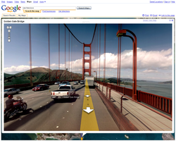 Google maps street view golden gate san francisco