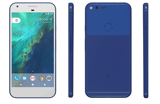 Google Pixel Really Blue
