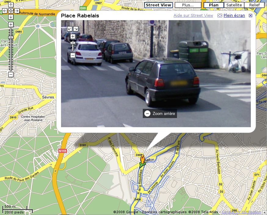 google street view une voiture vandalis e en allemagne. Black Bedroom Furniture Sets. Home Design Ideas