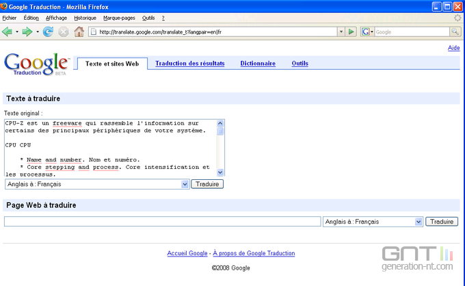 Google Traduction 2