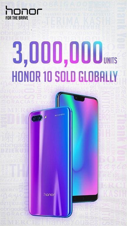 Honor 10 ventes record