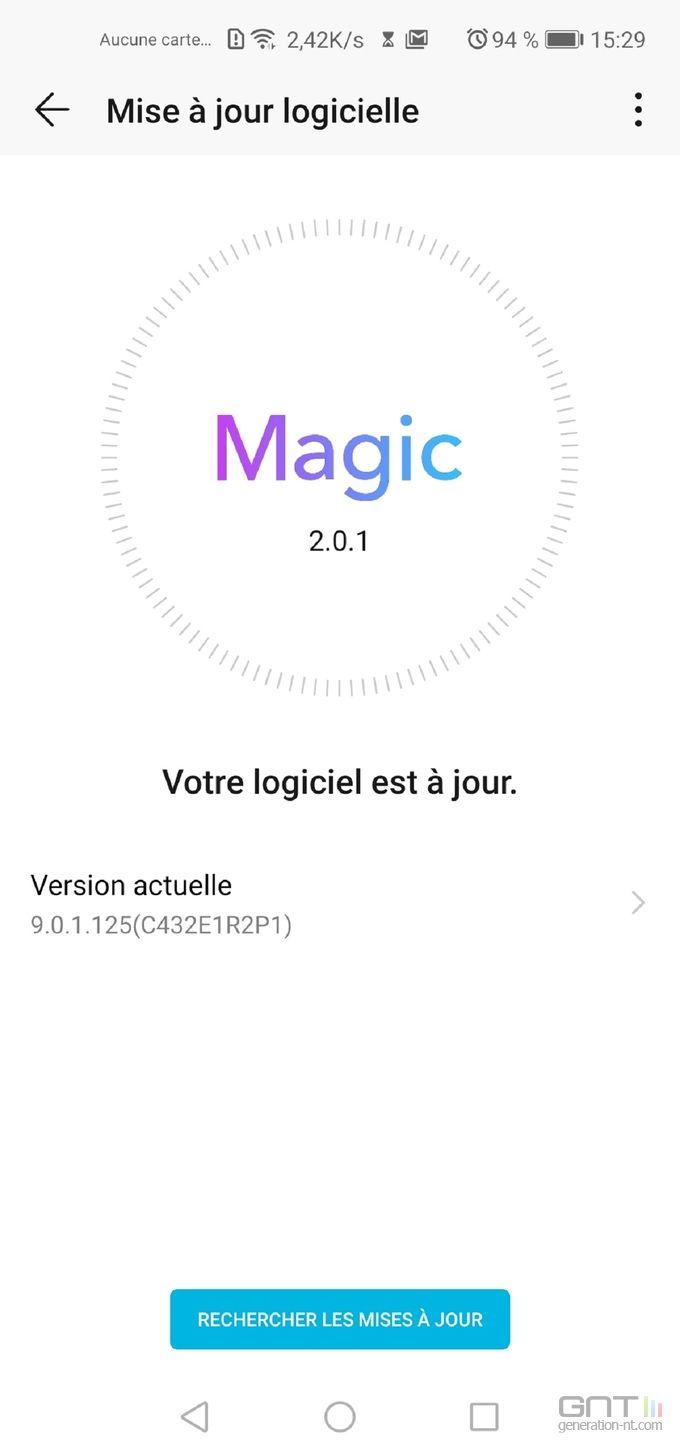 Honor View 20 Magic UI