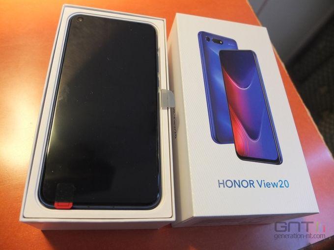 Honor View 20 packaging