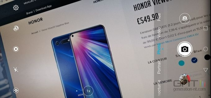 Honor View 20 photo interface 01