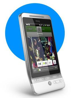 HTC Hero Spotify