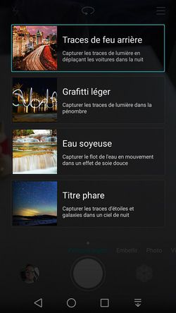 Huawei P8 effets nuit