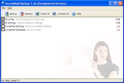 IncrediMail Backup screen2