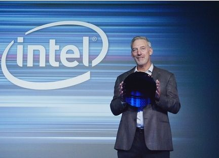 Intel 10 nm wafer