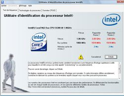 Intel Processor Identification Utility screen1