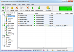 Internet Download Accelerator screen1