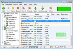 Internet Download Accelerator screen2