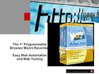 Internet Macros Web Test Recorder : automatiser les tâches répétitives