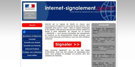 Internet signalement.