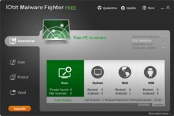 IObit Malware Fighter screen1