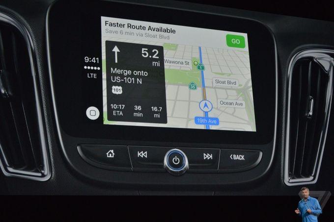 iOS 10 Maps CarPlay