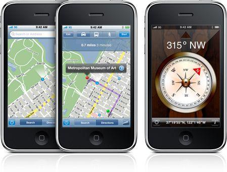 iPhone 3GS boussole numerique