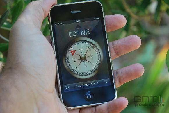 iPhone 3Gs boussole