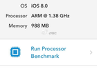 iPhone 6 benchmark