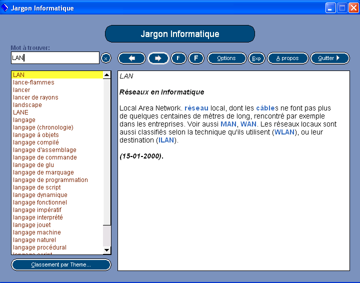 jargon informatique pour windows 7 gratuit