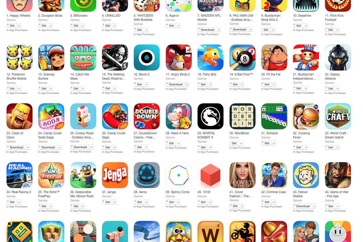 Jeux Appstore