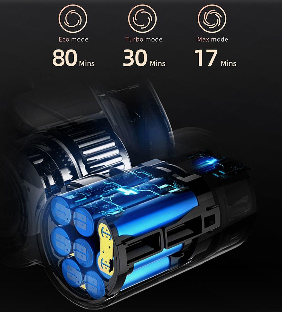 Jimmy H9 Pro - aspirateur autonomie batterie