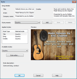 Karaoke Video Creator screen