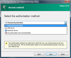 Kaspersky Password Manager screen 1