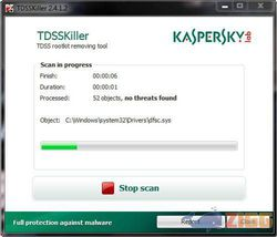 Kaspersky TDSSKiller screen1