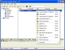 KeePass Password Safe screen 1