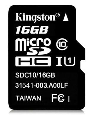 Kingston microSD 16 Go