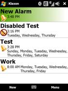 Klaxon : alarme Windows Mobile gérable par accéléromètre